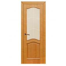 """Дверь межкомнатная из массива сосны """"Модель №7"""" (остеклённая)"""