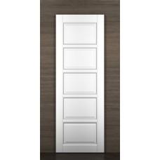 """Дверь межкомнатная из массива ольхи ДорВуд """"Модель №1"""" эмаль белая"""