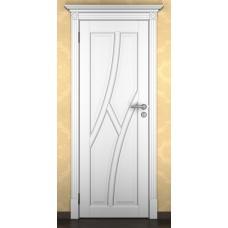 """Дверь межкомнатная из массива ольхи ДорВуд """"Модель №13"""" эмаль белая"""