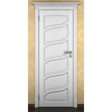 """Дверь межкомнатная из массива ольхи ДорВуд """"Модель №14"""" эмаль белая"""
