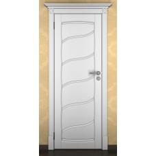 """Дверь межкомнатная из массива ольхи ДорВуд """"Модель №15"""" эмаль белая"""