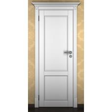 """Дверь межкомнатная из массива ольхи ДорВуд """"Модель №17"""" эмаль белая"""