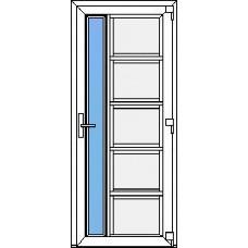 Дверь ПВХ Модель 15