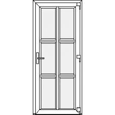 Дверь ПВХ Модель 20