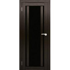 """Дверь межкомнатная """"Амати 11"""" (чёрное стекло)"""
