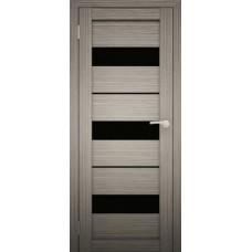 """Дверь межкомнатная """"Амати 12"""" (чёрное стекло)"""