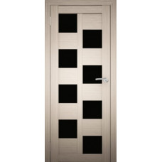 """Дверь межкомнатная """"Амати 13"""" (чёрное стекло)"""