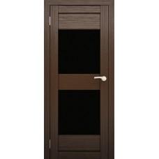 """Дверь межкомнатная """"Амати 15"""" (чёрное стекло)"""