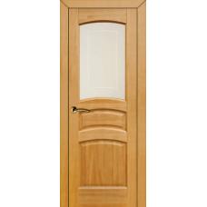 """Дверь межкомнатная из массива сосны """"Модель №16"""" (остеклённая)"""
